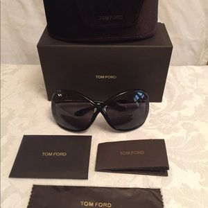 Tom Ford Whitney Sunglasses Black w/All Papers